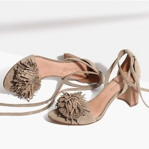 Madewell Lainy Suede Sandals with Ankle Ties